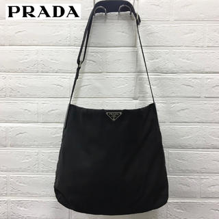 PRADA - 良品☆プラダ☆ショルダーバッグ☆三角ロゴ/ナイロン☆NERO/ブラック系
