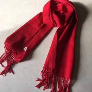 フルラ(Furla)のカシミアマフラー 赤 美品(マフラー/ショール)