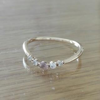 クミキョク(kumikyoku(組曲))の組曲 ピンクゴールド 指輪 V字 10号(リング(指輪))