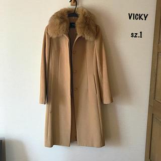 VICKY - VICKY/ビッキー ファー付きステンカラー コート