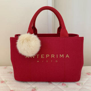 ANTEPRIMA - ANTEPRIMA MISTO キャンバストートバッグ 赤
