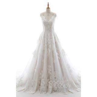 COCOMELODY  Vネック ウェディングドレス