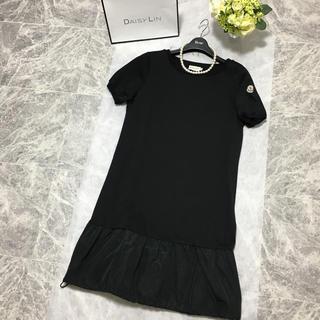 MONCLER - 正規美品 モンクレール MONCLER ブラック ストレッチ ワンピース