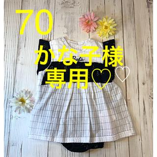 Barbie - 【新品】バービー♡夏用ロンパース   70🎀