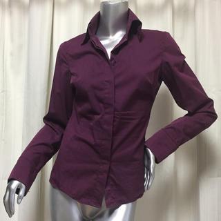 訳有り ニューヨークで購入 calliope デザインシャツ ラインと袖口素敵!(シャツ/ブラウス(長袖/七分))