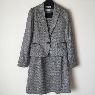 ナチュラルビューティーベーシック(NATURAL BEAUTY BASIC)のナチュラルビューティーベーシック ワンピーススーツ M ツイード 入学式 超美品(スーツ)