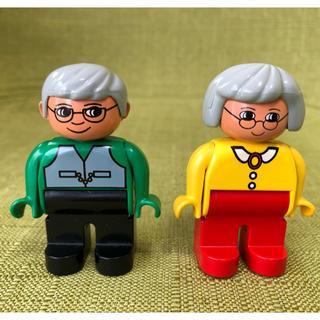 Lego - レゴ デュプロ おじいちゃん おばあちゃん フィグ フィギュア 人形
