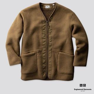 エンジニアードガーメンツ(Engineered Garments)の新品 エンジニアアードガーメンツ ユニクロ フリースノーカラーコート(チェスターコート)