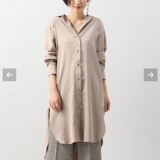 プラージュ(Plage)のplage ドレープロングシャツ(シャツ/ブラウス(長袖/七分))