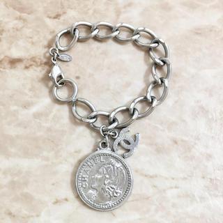 CHANEL - 正規品 シャネル ブレスレット シルバー ココマーク チェーン 硬貨 5 コイン