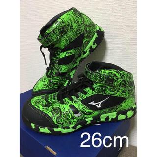 ミズノ(MIZUNO)の【新品☆限定】MIZUNO ミズノ安全靴 ALLMIGHTY  グリーン(スニーカー)