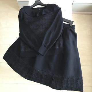 TO BE CHIC - ♡美品♡ TOBECHIC セットアップ 40 ブラック フォクシー ルネ