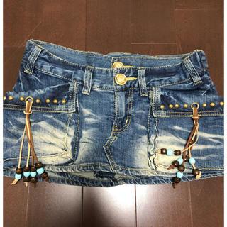 セシルマクビー(CECIL McBEE)のセシルマクビー スカート風デニムショートパンツ(ミニスカート)