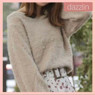 dazzlin - ダズリン  ハートシェイプシャギーニット