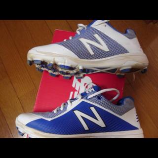 ニューバランス(New Balance)のニューバランスポイントスパイク28.5cm 青白 野球・ソフトボール 美品 (シューズ)