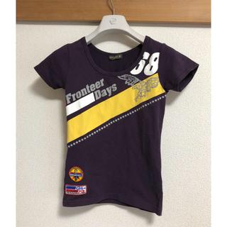 ワンウェイ(one*way)の美品 半袖Tシャツ カットソー ロゴT M 紫 パッチワーク インディオ(Tシャツ(半袖/袖なし))