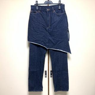ミハラヤスヒロ(MIHARAYASUHIRO)の美品!ミハラヤスヒロ デニムスカートパンツ(デニム/ジーンズ)
