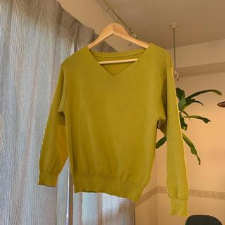セシルマクビー(CECIL McBEE)の訳ありCECIL McBEE 春ニット(黄緑 Mサイズ)(ニット/セーター)