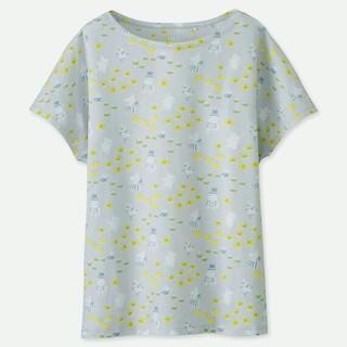 ユニクロ(UNIQLO)のユニクロ ムーミン Tシャツ 総柄グレー(Tシャツ(半袖/袖なし))