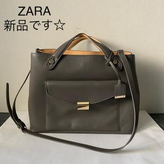 ZARA - 未使用☆ZARA☆ショルダーバッグ・グレー☆通勤・通学に。