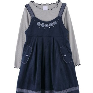 axes femme - ⑩❮USED美品♪❯axes femme kidsインナー付スェードキャミワンピ