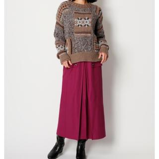 リリーブラウン(Lily Brown)のフラップデザインワークスカート(ロングスカート)