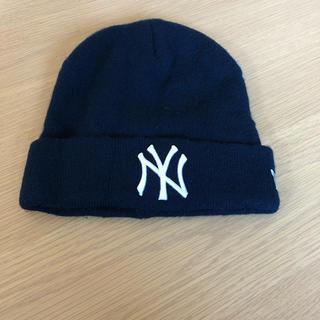NEW ERA - ニューエラ ヤンキース ニット帽 ビーニー 紺色