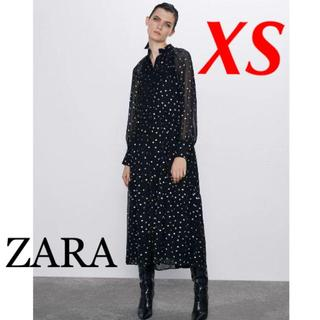 ZARA - 新品 完売品 ZARA XS ドット柄 シャツワンピース