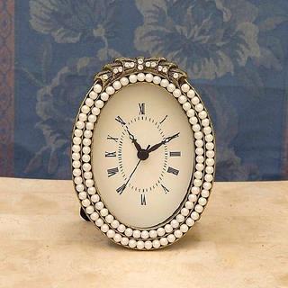 パール 倉庫品 時計 アンティーク ヨーロピアン 可愛い時計 残り1個