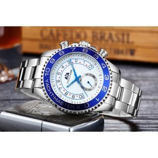 【PAULAREIS】 腕時計 ヨットマスター ホワイトシルバー 自動巻き(腕時計(アナログ))