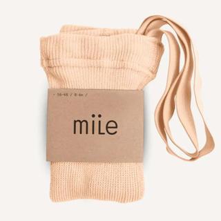 キャラメルベビー&チャイルド(Caramel baby&child )のmile ブレース付き タイツ ピーチ 12-24m(靴下/タイツ)