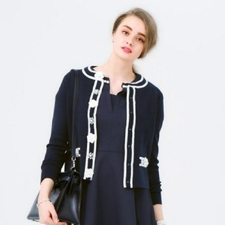 Chesty - chesty チェスティ Elegant Piping Cardigan