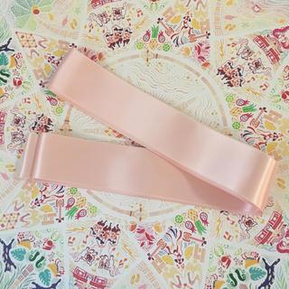 ウェディング サッシュリボン ピンク パステル