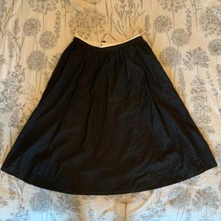 ルネ(René)の美品 ルネ ウエストバイカラースカート(ひざ丈スカート)