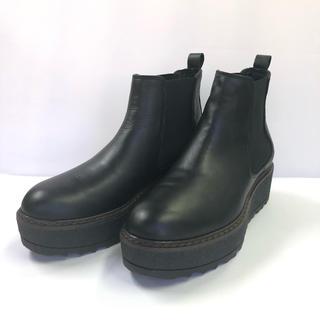 ROSE BUD - KARENLIPPS ブーツ 37 厚底 サイドゴア 黒