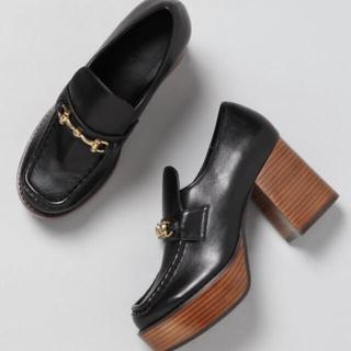 ジーナシス(JEANASIS)の新品未使用ビットツキヒールローファー(ローファー/革靴)