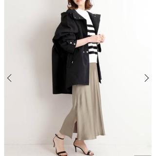 IENA - イエナ IENA サテンスリットスカート グレーA 40サイズ