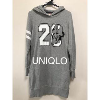 UNIQLO - ユニクロ ロングパーカー ディズニー ミニーマウス