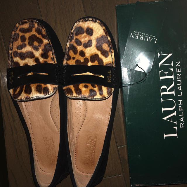 Ralph Lauren(ラルフローレン)のローレンラルフローレン ヒョウ柄ローファー 半額以下 レディースの靴/シューズ(ローファー/革靴)の商品写真