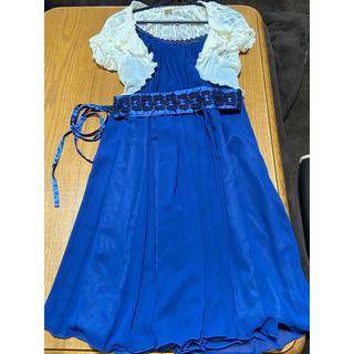 アクシーズファム(axes femme)のアクシーズファム 青色ワンピースとボレロ(ミディアムドレス)