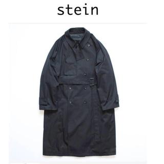 サンシー(SUNSEA)のstein lay oversized overlap coat BLK M(トレンチコート)