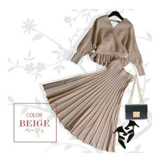 FRAY I.D - ニットセットアップ la mode 美品 Vネックニット&ニットプリーツスカート