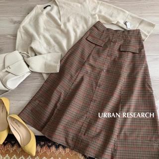 URBAN RESEARCH - アーバンリサーチ✴︎フラップボタンチェックスカート♡