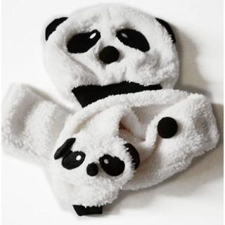 新品★ベビー用★パンダの帽子とマフラーのセット