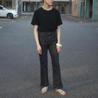 fumika uchida  センタープレス ブラックデニム フミカウチダ