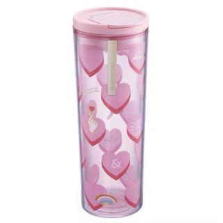 スターバックスコーヒー(Starbucks Coffee)のバレンタイン ハート 猫 台湾スターバックス プラタン  マグカップ タンブラー(グラス/カップ)