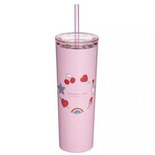 スターバックスコーヒー(Starbucks Coffee)のバレンタイン ハート 猫 台湾スターバックス マグカップ ステンレスタンブラー(グラス/カップ)