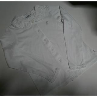 ポンポネット(pom ponette)のpom ponette長袖ブラウス白130cm 美品(ブラウス)