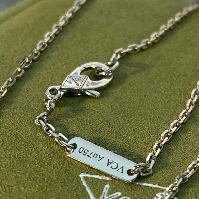 Van Cleef & Arpels(ヴァンクリーフアンドアーペル)の新品 ヴァンクリーク&アーペル WG白蝶貝アルハンブラネックレス レディースのアクセサリー(ネックレス)の商品写真