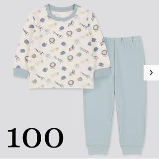 UNIQLO - ユニクロ リサラーソン パジャマ 100 グリーン リサ・ラーソン